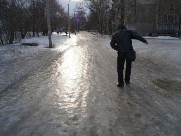 Гололед в Украине, фото из открытых источников