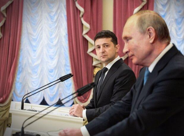 Зеленский и Путин, коллаж tvc.ru
