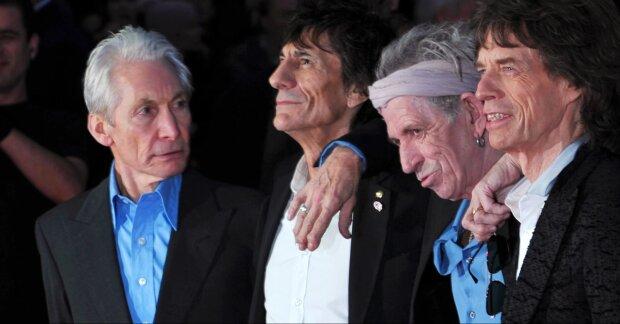 The Rolling Stones в 2012 году. Уоттс — первый слева