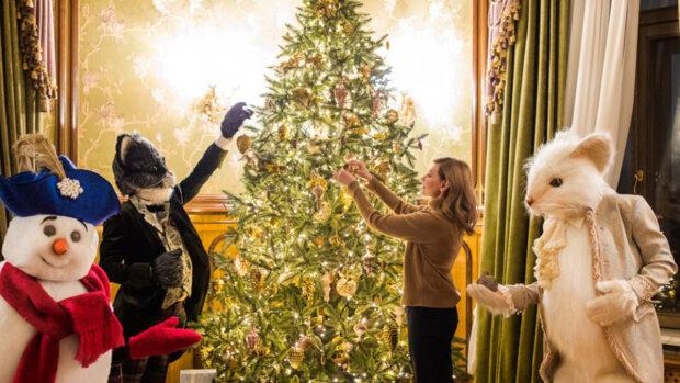 Елена Зеленская возле елки, фото Getty Images