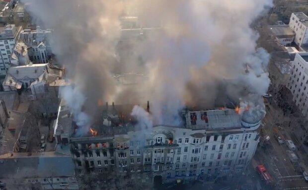 """Очевидцы пожара в одесском колледже успели снять видео, от кадров стынет кровь: """"Спасите нас, пожалуйста!"""""""