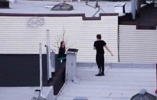 Карантин на крыше, скриншот: YouTube