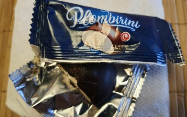 Половинки конфет из АТБ, фото: Telegram