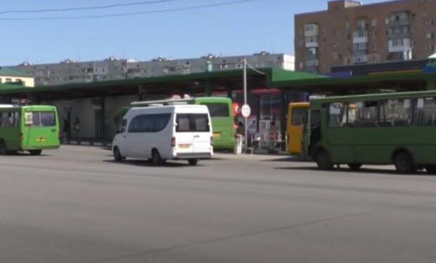 харьковские маршрутки, скриншот из видео