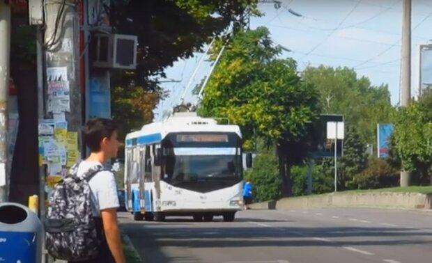 тролейбус, Дніпро, скріншот з відео