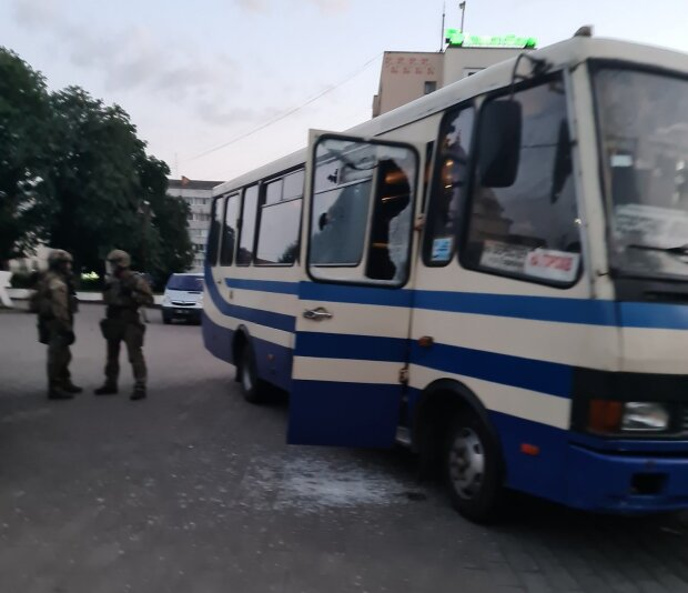 затримання терориста в Луцьку,фото з Twitter