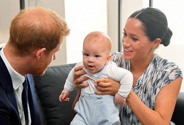 Принц Гаррі з Меган Маркл і їхнім сином Арчі