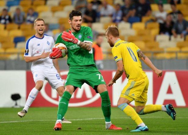 Динамо обидно упустило победу в первом матче Лиги Европы