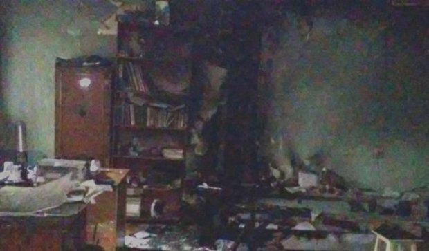 """В Херсоні підпалили офіс """"Свободи"""""""
