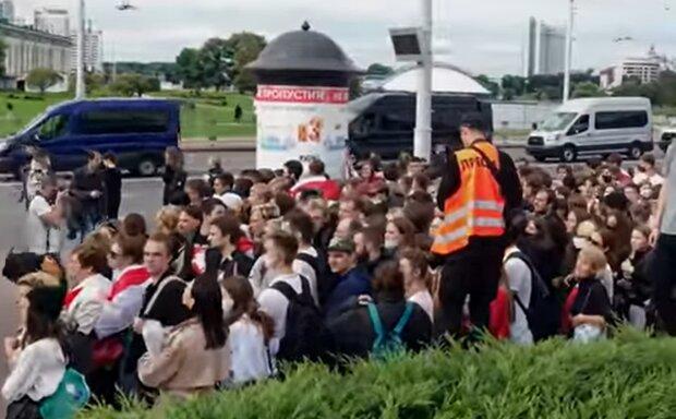 Протесты в Беларуси, фото: кадр из видео