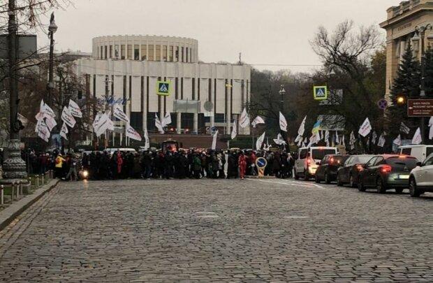 Митинг в центре Киева, фото: Национальная полиция