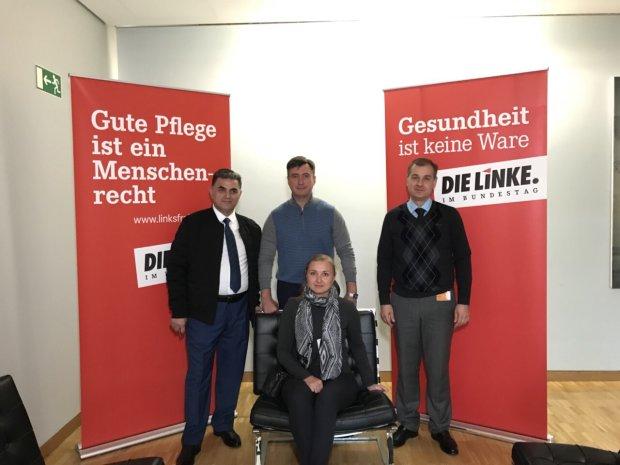 Керівники партії «РОЗУМНА СИЛА» в Берліні в офісі партії Die Linke озвучують мирні ініціативи.