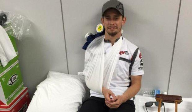 Известный мотогонщик попал в аварию на гонках в Японии (видео)