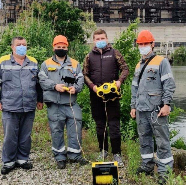 Впервые в истории украинской энергетики ДТЭК запустил пилотный проект по использованию подводного дрона