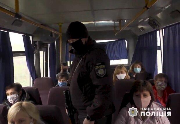 На Закарпатье полиция проверяет транспорт на соблюдение карантинных мер, скриншот