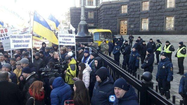 Митинг на Банковой, фото: Знай.ua