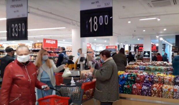 Харьковский супермаркет, скриншот из видео