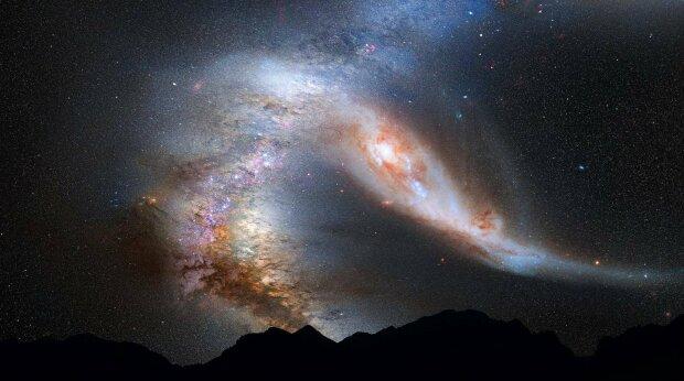 Две галактики разорвали друг друга, чтобы слиться воедино: в сети показали жуткий снимок Hubble, фантастика