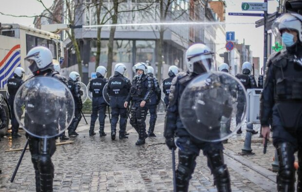 Протести в Льєжі, фото: lameuse.sudinfo.be