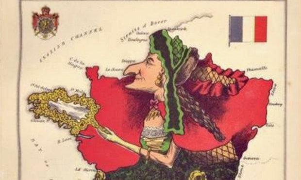 Карикатурные карты 1860-х годов: как старушка Франция стала повелительницей моды, а Италия революционером
