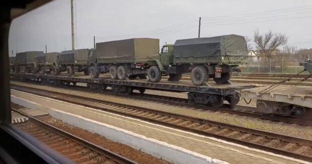 військові РФ на кордоні з Україною, скріншот з відео