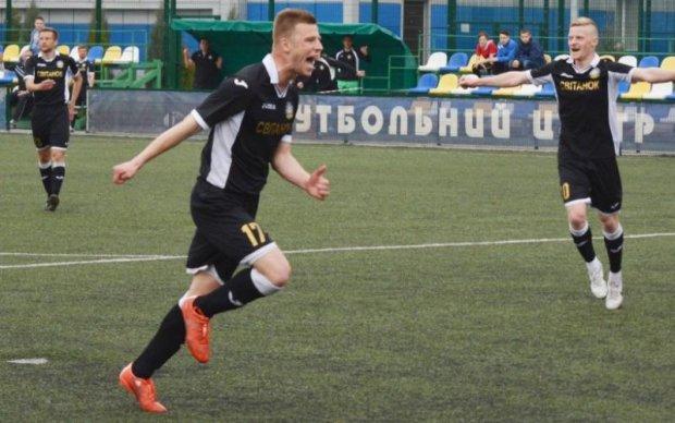 Футболіст забив гол-красень у першій українській лізі