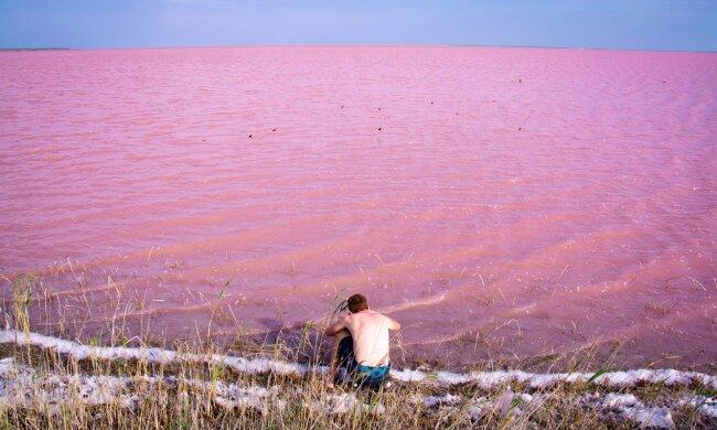 Космічні краєвиди: 7 рожевих озер України та як до них потрапити