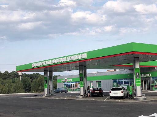 заправка с белорусским топливом