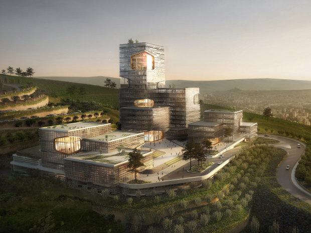 В Тбилиси построят финансовый центр в виде прозрачной крепости
