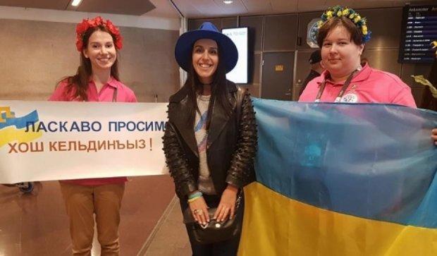Джамала прилетіла до Стокгольму на Євробачення