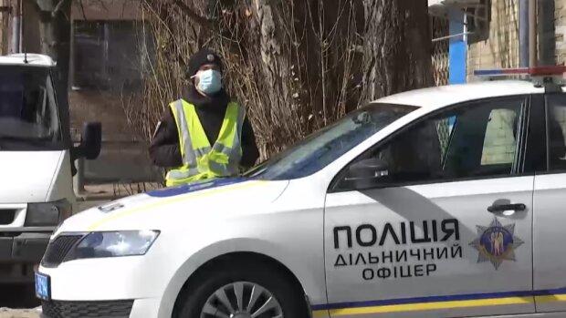 Полиция в карантин, сник из видео