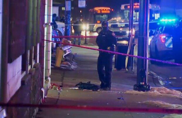 Инцидент в Чикаго и Эванстоне, скриншот: Twitter