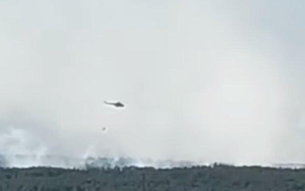 Пожар в Чернобыльской зоне, фото YouTube