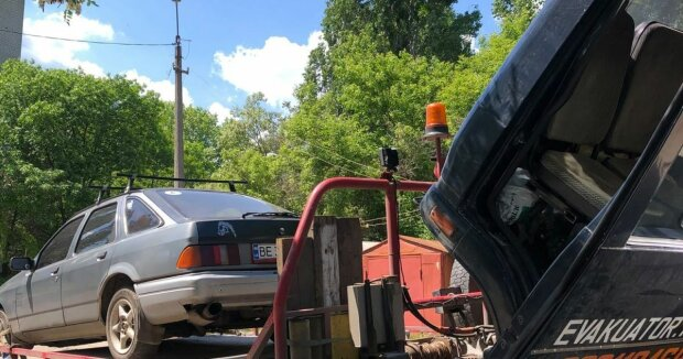 арест автомобиля, фото с Facebook