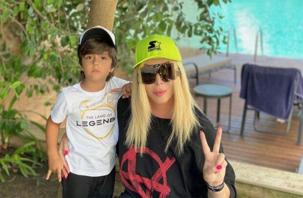 Ирина Билык с сыном, фото из instagram
