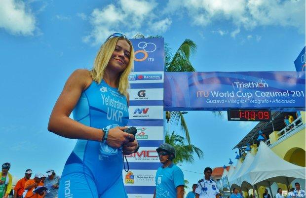 Украинская красавица победила на Кубке Европы по триатлону