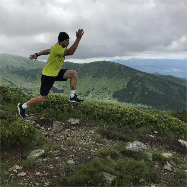Микола Таран, бігун-марафонець з Прикарпаття, фото з Marie Claire