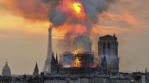 Удалось спасти самое главное: всплыли жуткие кадры из сгоревшего Нотр-Дама