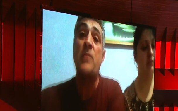 Скриншот с видео, семья пострадавших