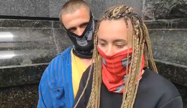 Ярина Чорногуз и Петр Стефарак, скрин с видео