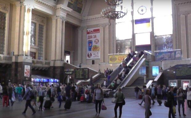 киевский вокзал, скриншот из видео