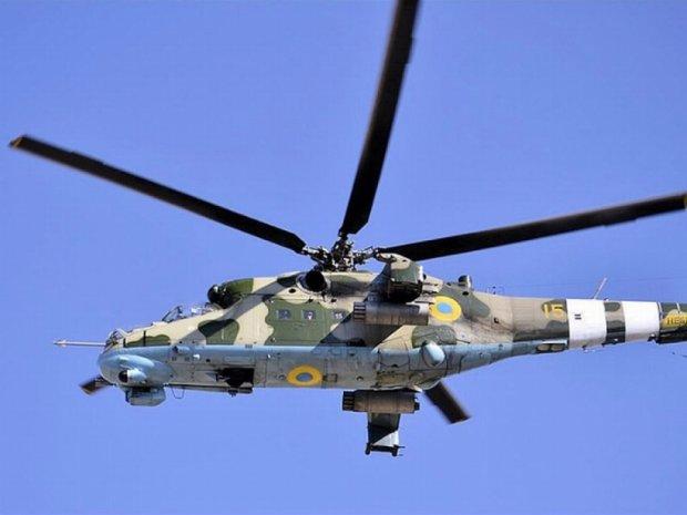 Військовий гелікоптер впав під Києвом (відео)
