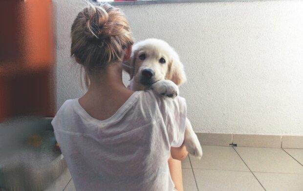 Дівчина з собачкою, favim.com