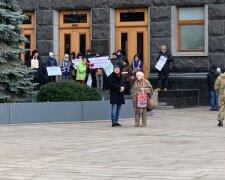 Акція протесту біля ОП, фото: strana.ua