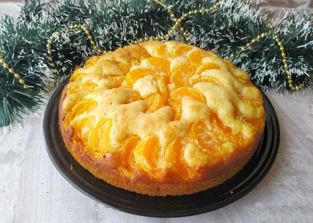 Мандариновый пирог, фото из свободных источников