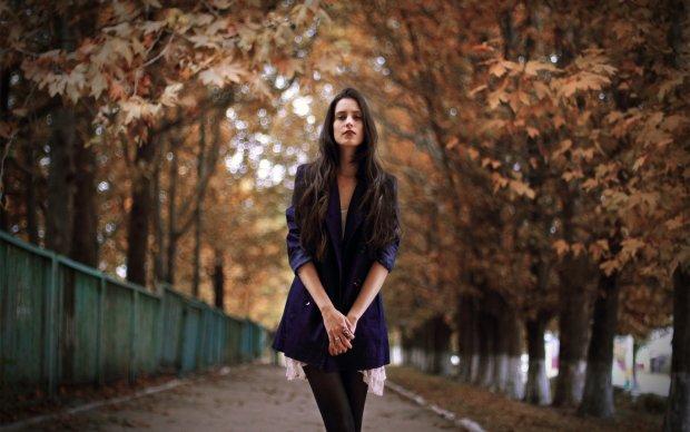 дівчина, осінь