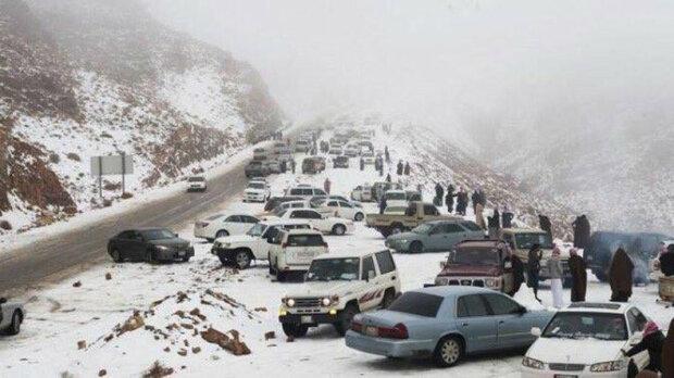 Сніг в Саудівській Аравії