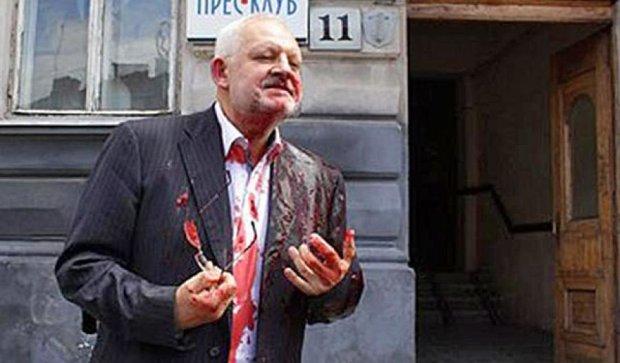 """""""Правий сектор"""" облив нардепа від опозиції свинячою кров'ю"""