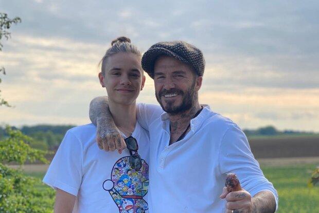 Ромео и Дэвид Бекхэм фото: Instagram