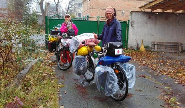 Японские велопутешественники поселились в Виннице (фото)
